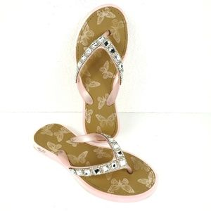 Wiesner Kids Jeweled Pink Slide Flip Flop Sandals